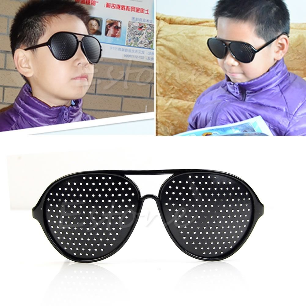 Child Brand New Alloy Anti-Fatigue Vision Care Eyesight Improver Pinhole Glasses Hole Eye Glasses