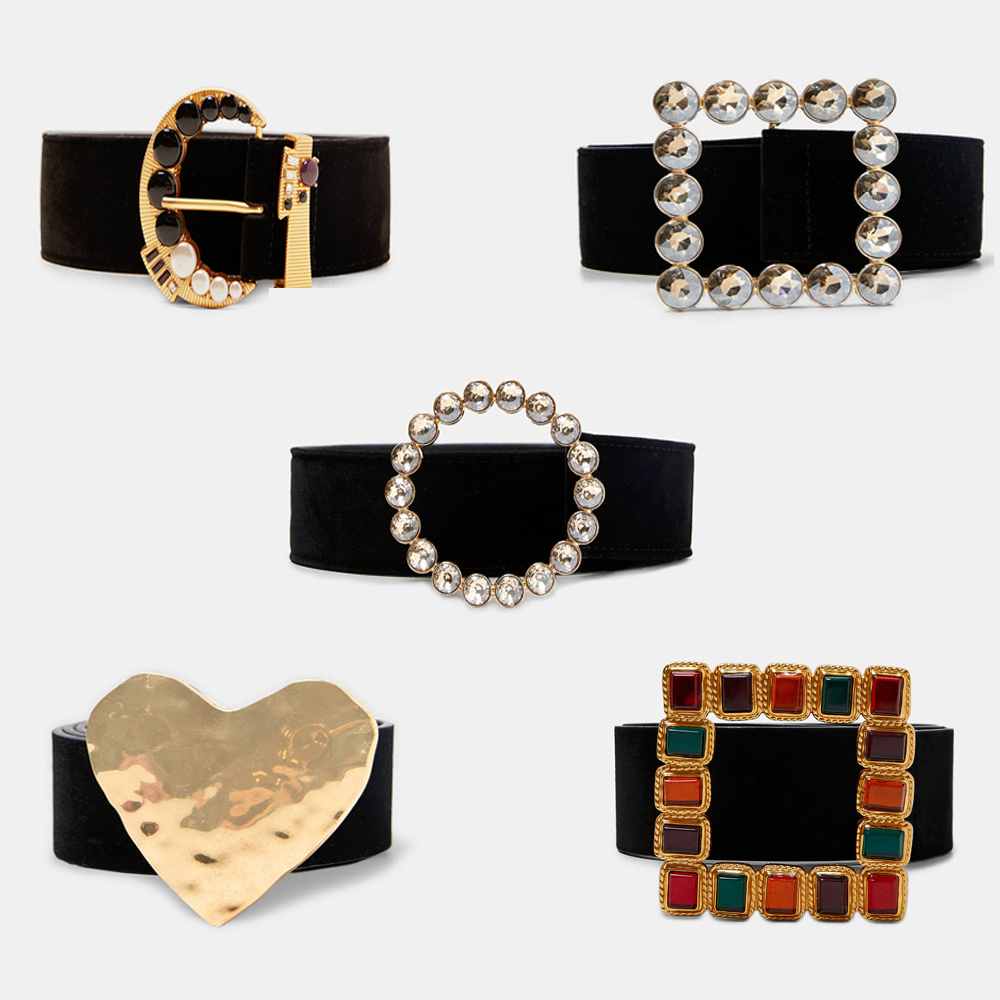 Girlgo Brand ZA Colorful Square Belts For Women Bohemia Maxi Heart Statement Belts Charm Spring Trendy Waist Wedding Jewelry