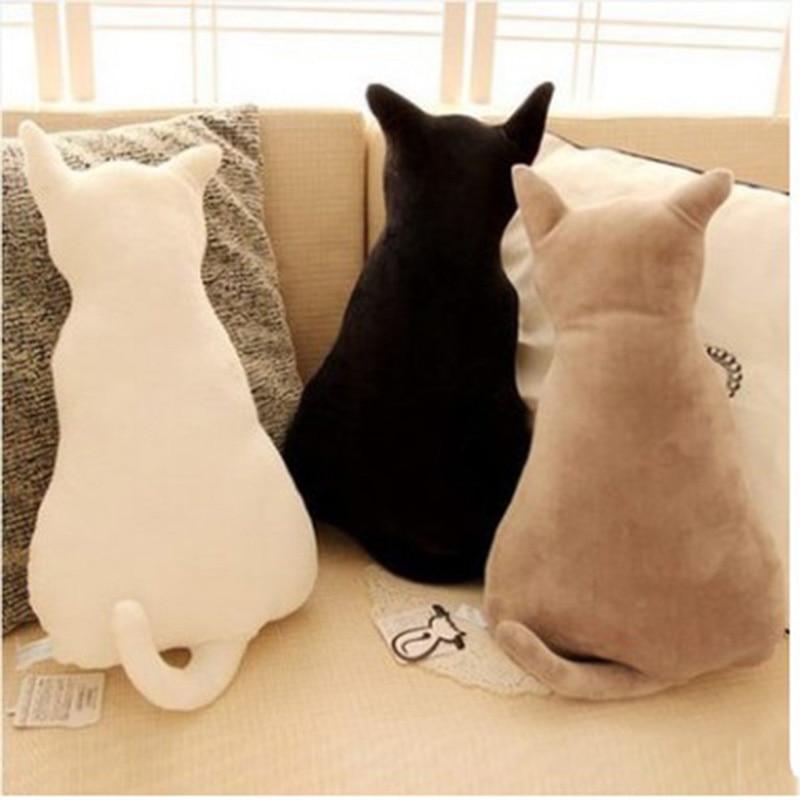 Cute Cartoon Soft Cat Back Stuffed Baby Cushion Pillow Back Of Car Plush Sofa Decorative Throw Pillow Doll Toy Household Gift
