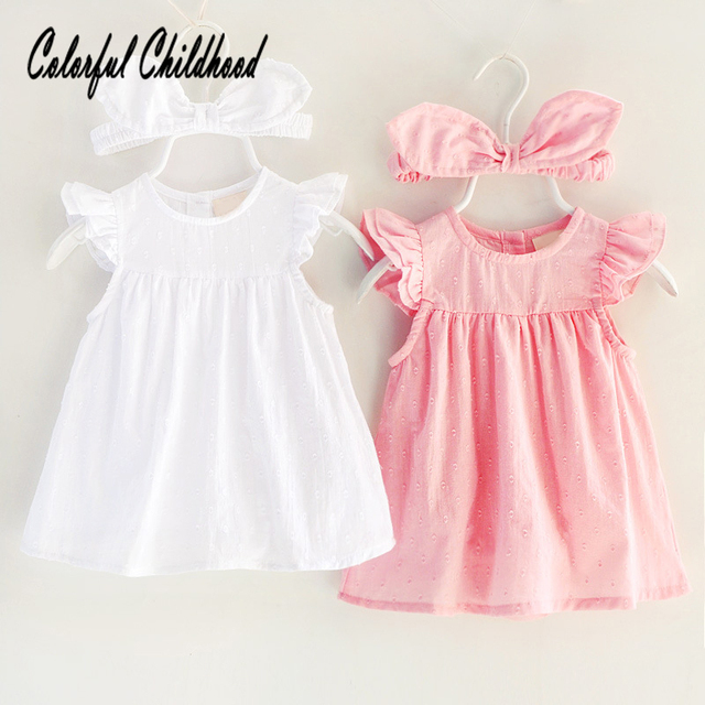 f4f56869c Soft breathable newborn baby clothes ruffles lace infant kids dresses for  girl romper summer toddler baby
