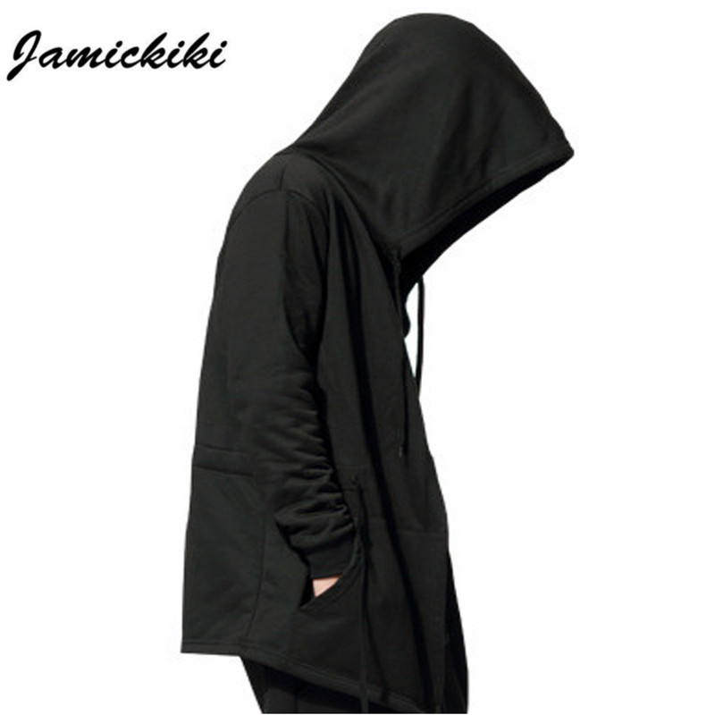 Hot Jamickiki Brand Men's Black Cloak Hooded Clothing Hip Hop Full Sleeves Men Women Unisex XXXXXL H01