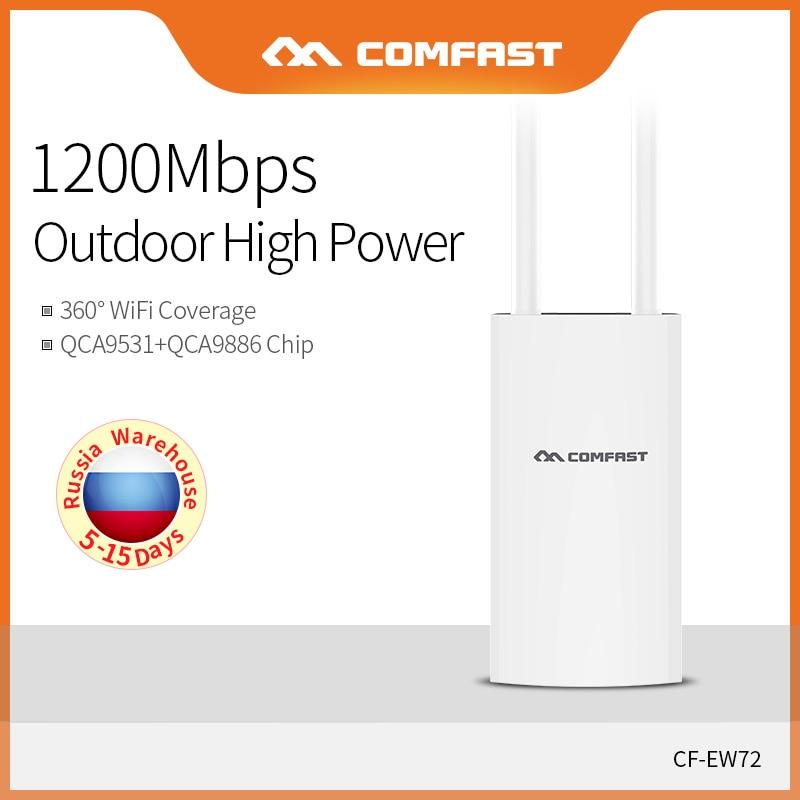 Comfast 1200 Mbps Haute Puissance Extérieure CPE Routeur WiFi Pont Point D'accès Étanche routeur ap répéteur wi-fi Extender CF-EW72