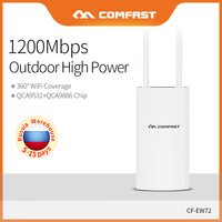 Comfast 1200Mbps High Power Outdoor CPE Router WiFi Bridge Access Point Waterproof AP Router Wifi Repeater Extender CF EW72
