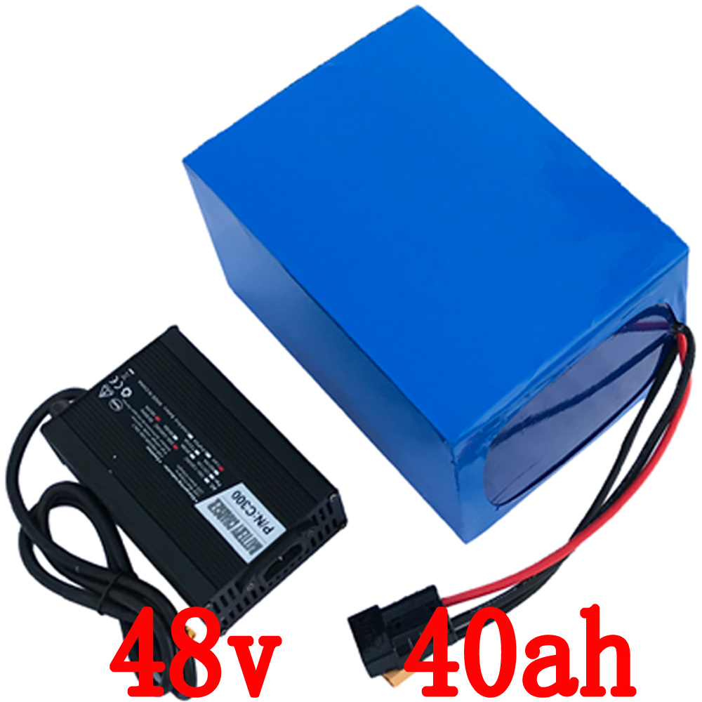 48V 40Ah 2000W electric bike Protable battery electric Bicycle lithium Battery 50A BMS and Charger 48v li-ion scooter battery electric bike battery 48v 30ah 2000w for samusng cell electric bicycle battery triangle lithium ion battery pack with 50a bms