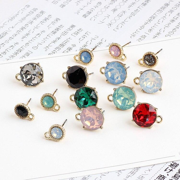 DIY Handmade Jewelry Accessories Cut Glass Crystal Alloy Belt Hanging Earrings Materials Temperament