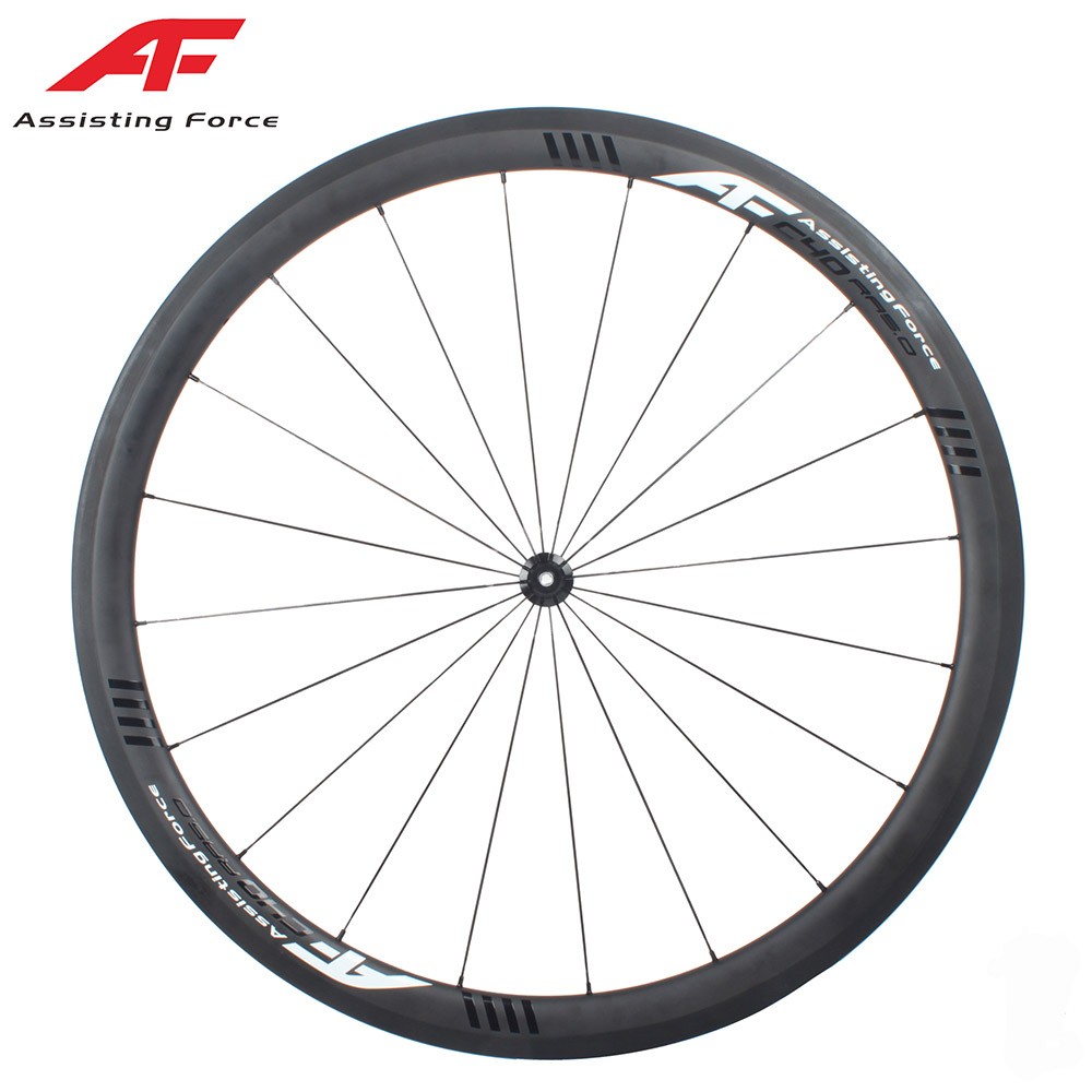 AF No outer holes Road Racing Carbon bike Wheel Clincher 700C 40*27mm width carbon wheel set with DT 350 straight pull ROAD HUB carbon road wheel ceramic bike hub 700c 88mm clincher racing wheel wholesale carbon road racing wheel