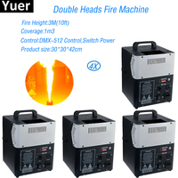 4pcs/lot 200W Double Heads fire Machine DMX Stage Fire Machine Flame Thrower For Party KTV Stage Performance Special Effects