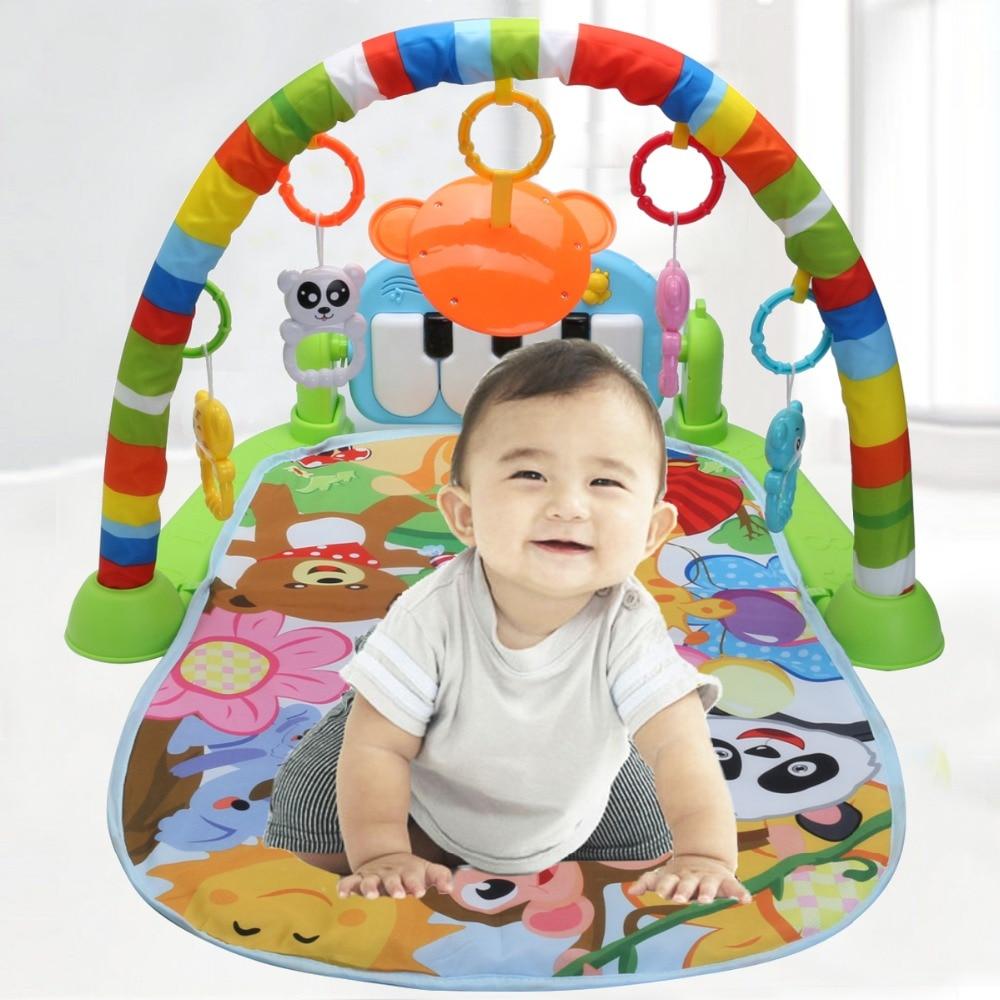 3 In 1 Educational Rack Toys Baby Music Play Mat Keyboard Infant Fitness Carpet Gift For Kids Baby Play Mat Children Rug Carpet цена