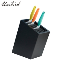 Unibird Multifunction Knife Holder Blocks Stand Box Plastic Cutlery Draining Rack Rest Storage Kitchen Tool Organize Accessories