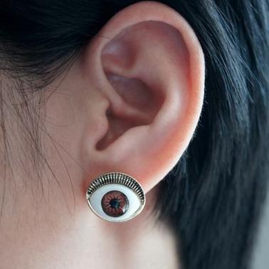 Well-Educated New Fashion Jewelry Brand Retro Evil Blue Eyes Earrings B0d85/5d Earrings Stud Earrings