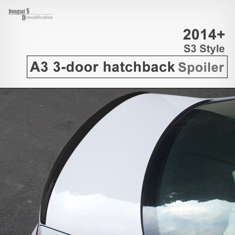 A3 S3 Style Carbon Fiber Spoiler Rear Trunk Back Wing For Audi A3 2014 2015 2016 3-Door Hatchback Glossy Black Crbon Fiber