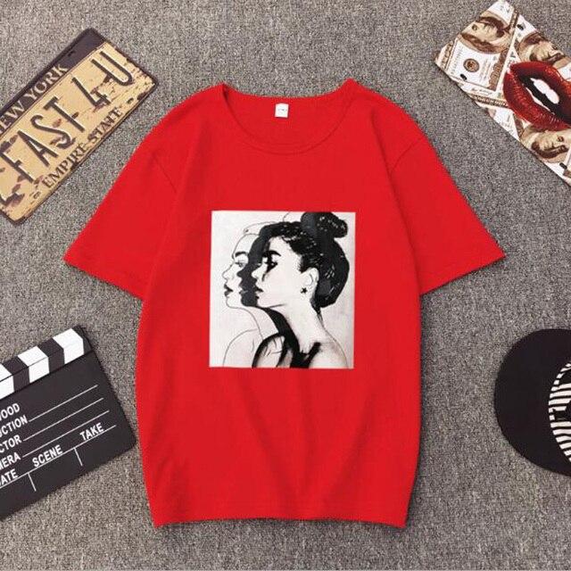Girls Print Short Sleeve O Neck Cotton Spandex Top Slim Fit Soft T-shirt 5
