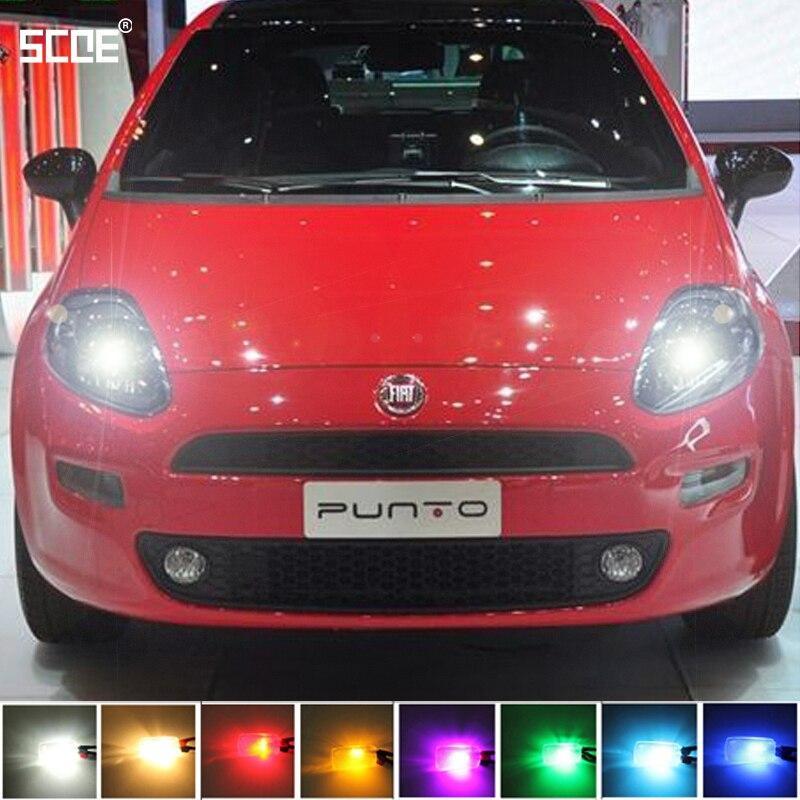 For Fiat Grande Punto(199) Grande PuntoVan (199)SCOE 2X12SMD LED Front Parking Light  Front Side Marker Light Source Car Styling