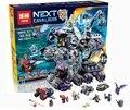 Lepin 14031 nexus knights building blocks set jestro vehículo monstruo monstruoso de ladrillos niños juguetes compatible 70352
