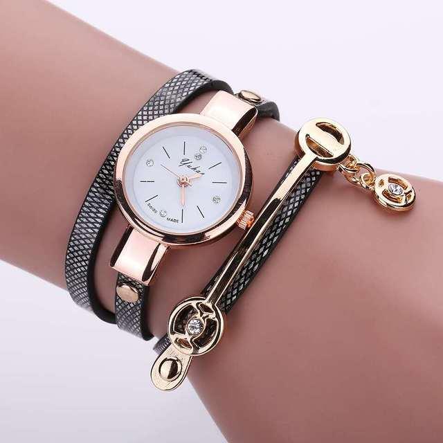 top fashion women's watch with 3 layers belt , good quality ,fashion women's bra