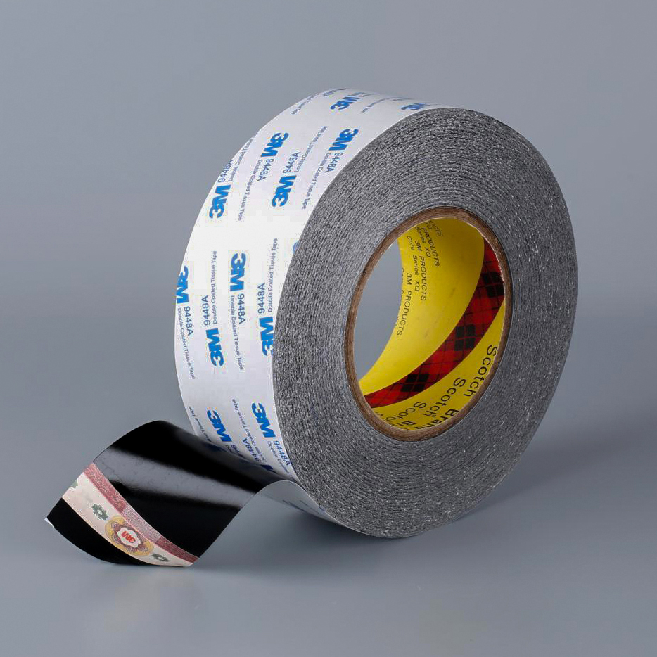 1roll 3m 9448a Black Double Sided Tissue Tape Repairing Cellphone Touch