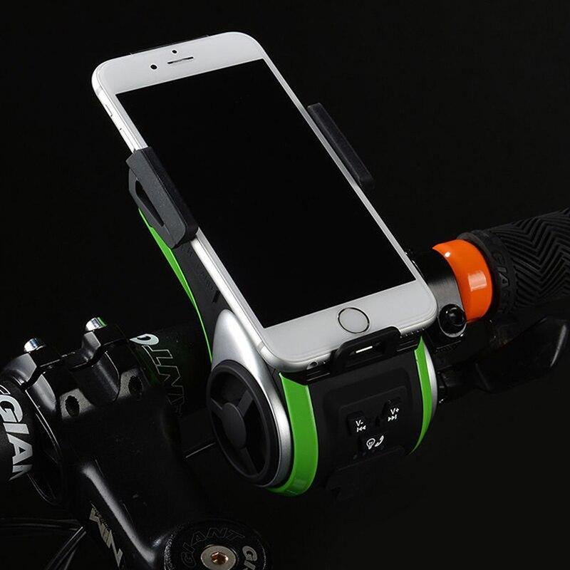 ROCKBROS Étanche Vélo 5 Dans 1 Multi Fonction haut-parleur bluetooth batterie mobile 4400 mAh batterie externe support pour téléphone Vélos Lumière - 3