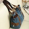 2016 New Fashion Double Zipper Chain Fashion Women Bags Canvas bag Shopping Handbag Casual Shoulder Bag F534