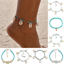 Fashion Colorful Beads Anklet Shell Starfish Pendant Anklet Bracelet for women Bracelet on The Leg Gold Ankle Chain Foot Jewelry цена