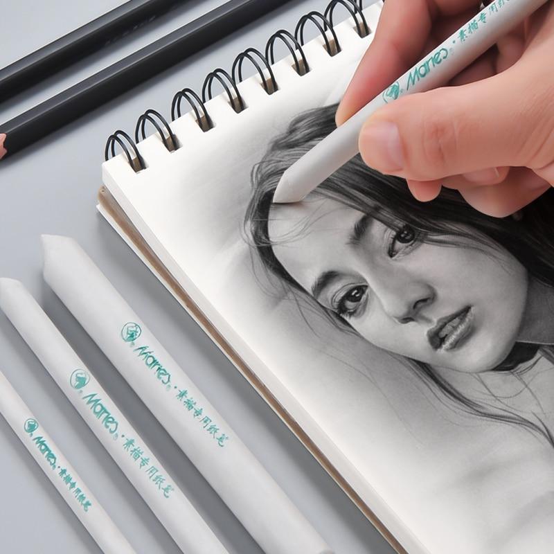 Marie's Tortillon Art Sketch Paper Wiper Pens S/M/L Blending Smudge Stump Tortillon Sketch Drawing Paper Pen Sketch Smudge Brush