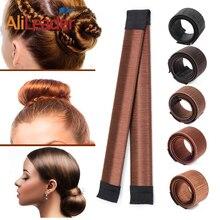7 Colors DIY Easy Bun Makers Hair Braiders Elastic Hairband Donuts Chignon Magiq
