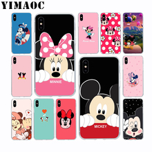 YIMAOC Mickey Minnie Mouse Soft Silicone Case for Apple Iphone 11 Pro Xr Xs Max X 10 8 Plus 7 6S 6 Plus SE 5S 5 7Plus 8Plus lavaza cartoon mickey mouse couple silicone case for iphone 5 5s 6 6s plus 7 8 11 pro x xs max xr