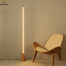 Modern Standing Lamp Solid Wood Floor Lamp For Bedroom Bedside Luminaire Living Room Floor Lamp Home Decor Stand Light Fixtures(China)