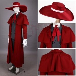 Image 3 - 吸血鬼ハンターコスプレヘルシングアーカードコスプレ衣装クール男スーツと高綿コンテンツロングコート最高衣装