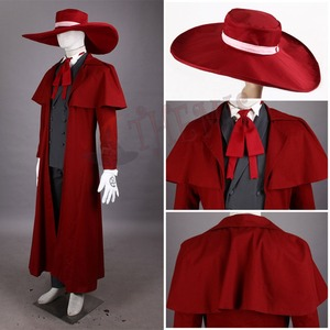 Image 3 - Vampire Hunter Cosplay Hellsing Alucard cosplay Costumes Cool Man Suit and High Cotton Content Long Coat  Best Outfits
