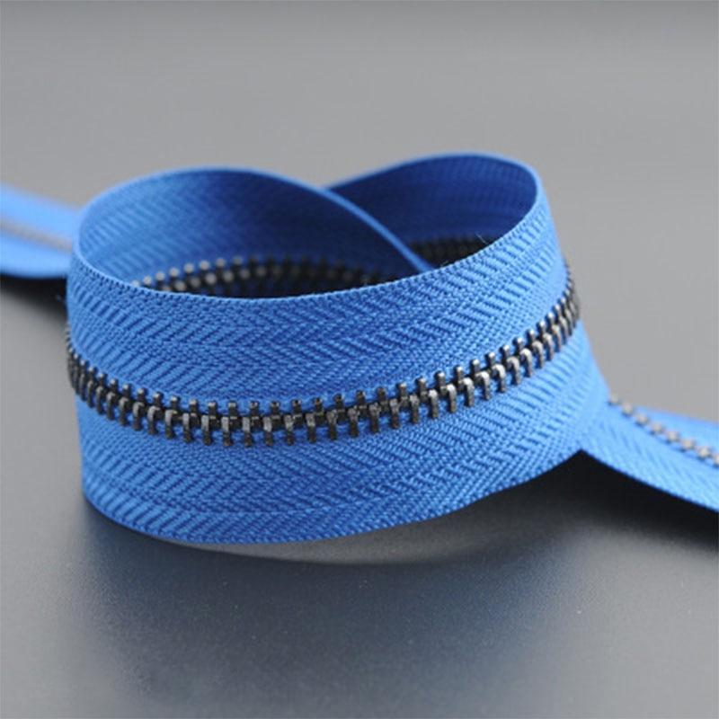 5 м/лот 5# Нейлон молния DIY ручной работы сумки палатка рюкзак домашний текстиль молнии и аксессуары - Цвет: blue black