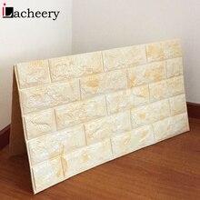 27 x 30 inch/PCS Foam 3D Brick Wall Stickers Home Decor Wallpaper DIY Tiles Contact Papers Living Room Bedroom