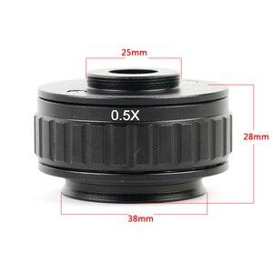 Image 5 - 7 45x zoom simul focal trinocular estéreo microscópio cabeça + 0.5x ctv câmera foco adaptador wf10x/20 ocular microscopio acessórios