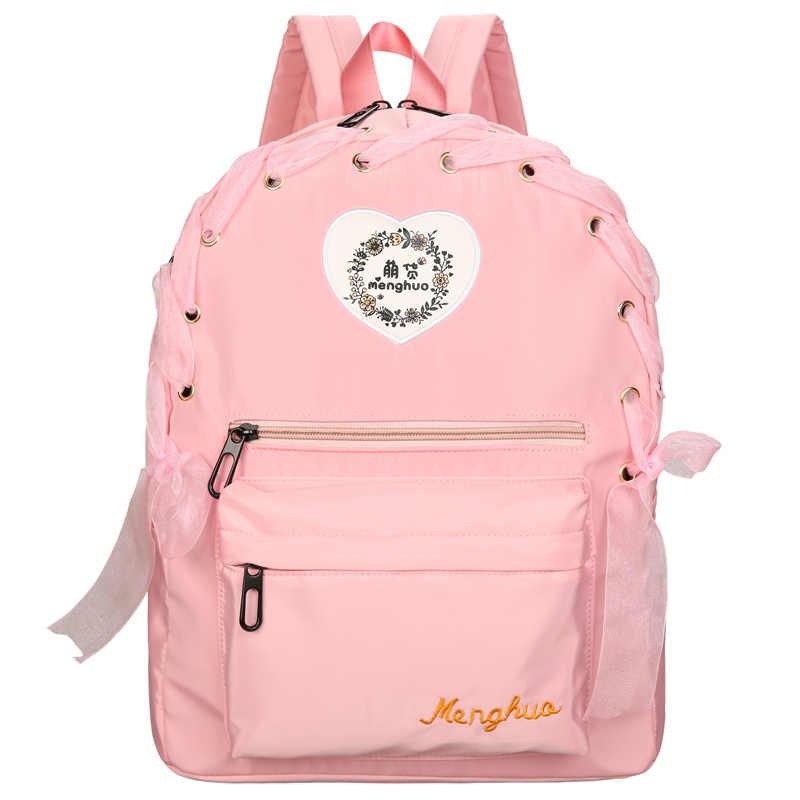 Scione женские рюкзаки с лентами, вышивка, летние яркие цвета, повседневные сумки для подростков, школьные сумки на плечо для девочек