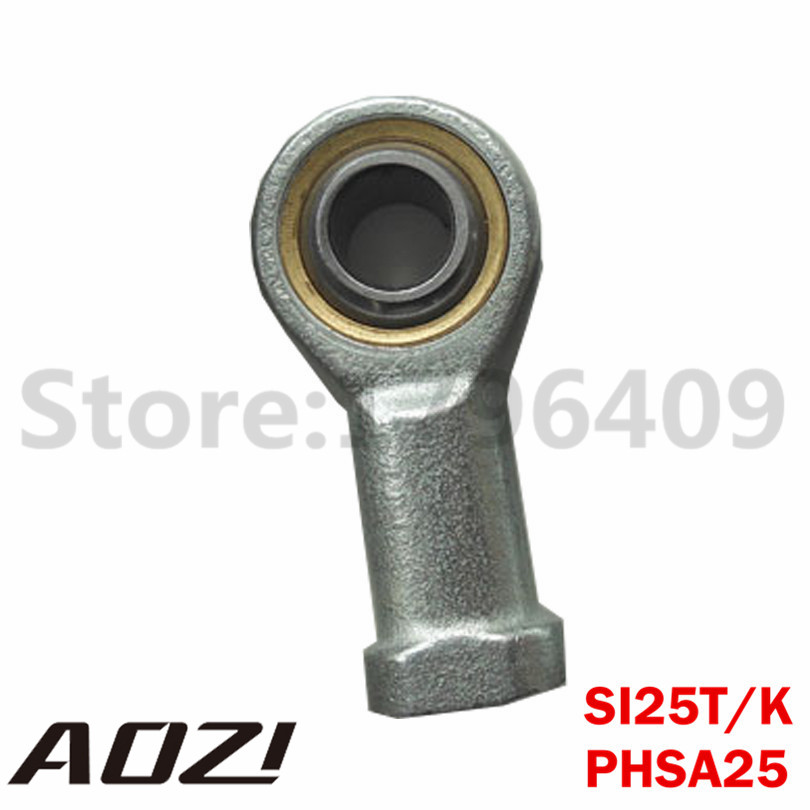1pc SI25T/K PHSA25 25mm Bore Female Rod End Right Hand Threaded Ball Joint Rod End Joint Bearing High Quality 1pc female metric spherical plain threaded rod end joint bearing phsa30 si30t k30mm left hand lh l shipping high quality