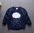 kids sweaters 2016 fall baby cloudy cotton knit Girls sweaters clothes long sleeve Children sweater  for boys