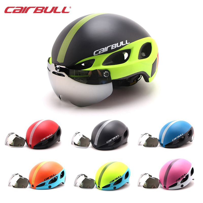 CAIRBULL New Bicycle Helmet with Lens Adult Women Men Breathable MTB Road Bike Goggles Helmet Casco Ciclismo M L 54-62cm Cycling new am xc off road bicycle helmet