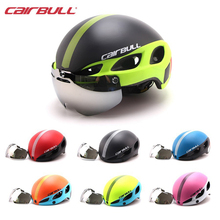 CAIRBULL New Bicycle Helmet with Lens Adult Women Men Breathable MTB Road Bike Goggles Helmet Casco Ciclismo M L 54-62cm Cycling