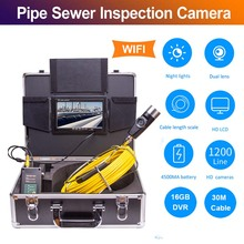 Eyoyo P70E 30M צינור צינור ביוב פיקוח נחש וידאו מערכת DVR מצלמה תעשייתי אנדוסקופ עמיד למים IP68