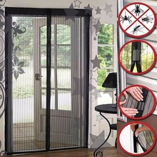 Nosii Summer Automatic Magnetic Anti Mosquito Door Blind Screen Full Frame Hands-free Magic Shade Bug Insect Curtains