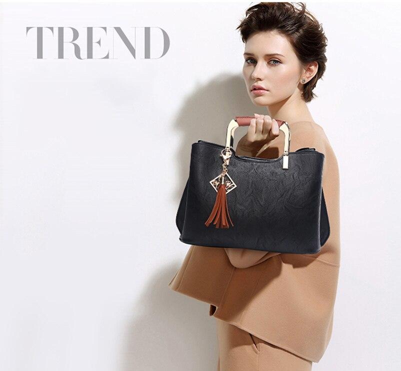 Nevenka Brand Design Women Luxury Handbags Female Tassel Sequined Messenger Bag Quality Leather Tote Solid Zipper Evening Bags02