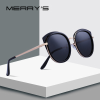 MERRYS DESIGN Women Fashion Cat Eye Polarized Sunglasses Metal Temple 100% UV Protection S6086 Women's Glasses