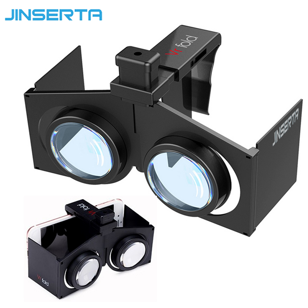 JINSERTA VR Fold V1 Google Cardboard VR BOX Portable Foldable VR Virtual Reality 3D Glasses Movies Games for Android iOS image