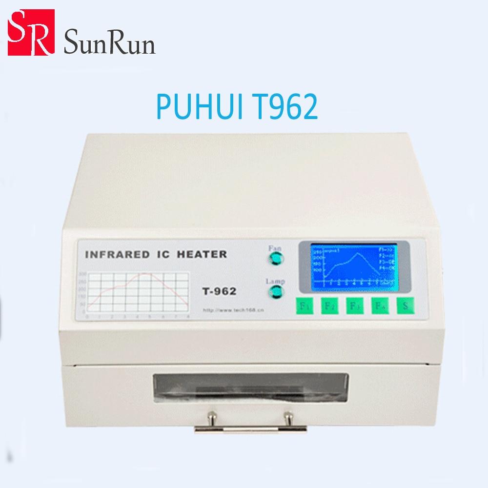 Puhui T962 220V Reflow Equipment T-962 Infrared Reflow Furnace IC Heater, BGA Rework Station
