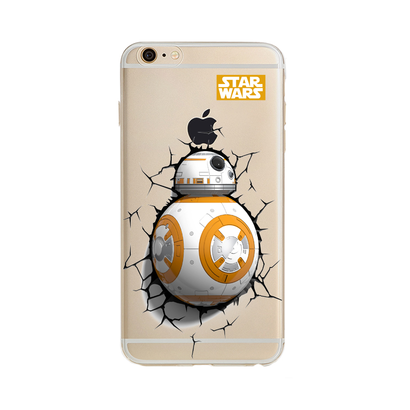 more photos c1e3a 15e23 TPU Capa For Apple Iphone 6s Case Star Wars The Force Awakens BB 8 ...