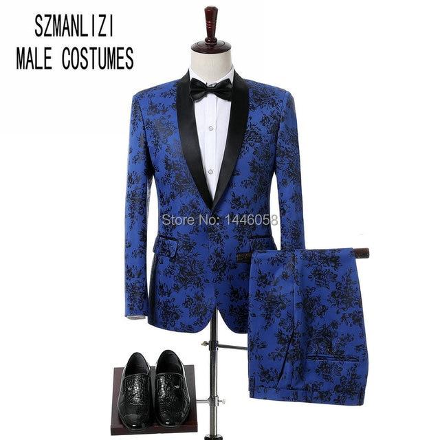 2018 Slim Fit Classic hombres abrigo pantalones traje de fiesta boda novio  esmoquin padrino chal solapa 0a9dc6d7abd