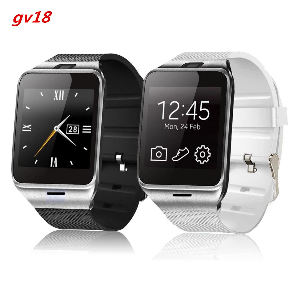 Smart Watch GV18 1.5″ 1.3M camera Memory card and SIM card slot Pedometer Smartwatch for man and woman for Android phone