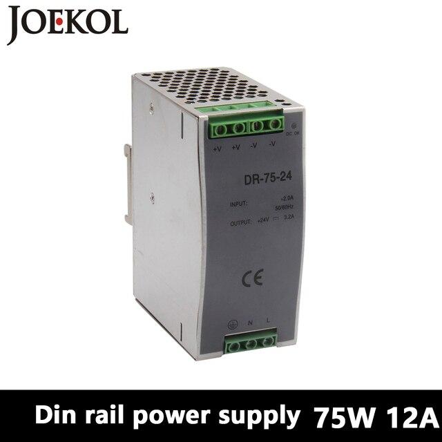 DR-75 Din Rail Power Supply 75W 12V 6.3A,Switching Power Supply AC 110v/220v Transformer To DC 12v,watt power supply