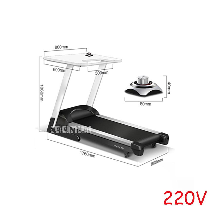 Электрическая мини-беговая дорожка R300, бесшумная беговая дорожка с настольным устройством для снижения веса, беговая дорожка, оборудование для занятий фитнесом, домашняя беговая дорожка - Цвет: Черный