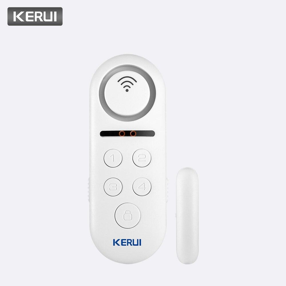 KERUI 1 piezas mucho 120dB Wifi inalámbrico de ventana de puerta de Sensor de puerta Bienvenido sistema de alarma de Control remoto casa Detector de seguridad