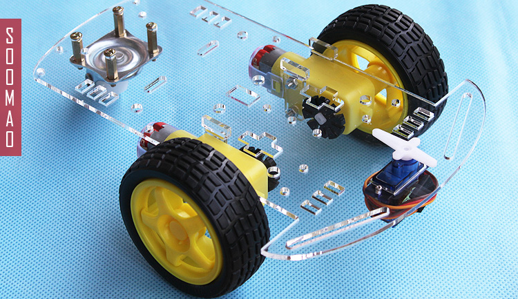 Smart car chassis with velocity tracing obstacle avoidance of remote control car 2 wd V48 path planning and obstacle avoidance for redundant manipulators